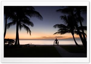 Tropical Beach Silhouette