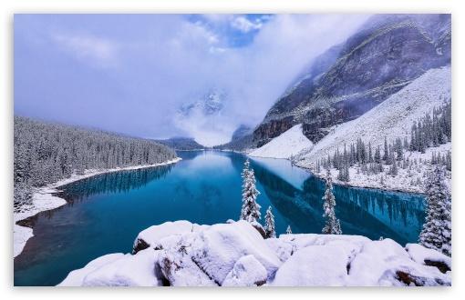 Download Mountain Winter Landscape UltraHD Wallpaper