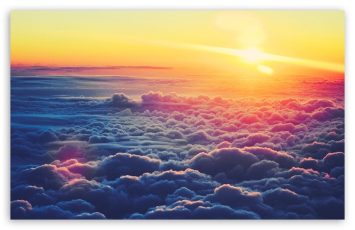 Download Sunrise Above The Clouds UltraHD Wallpaper