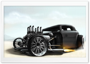 Ford Hotrod Drawing