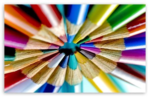 Download Colored Pencils Circle UltraHD Wallpaper