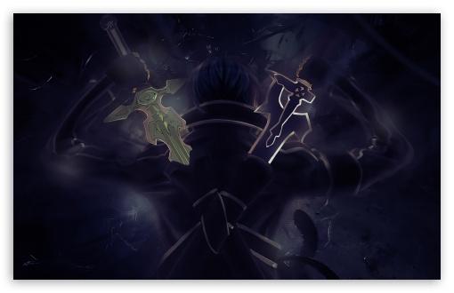 Download Sword Art Online, Kirito UltraHD Wallpaper