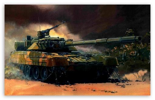 Download Tank Painting UltraHD Wallpaper