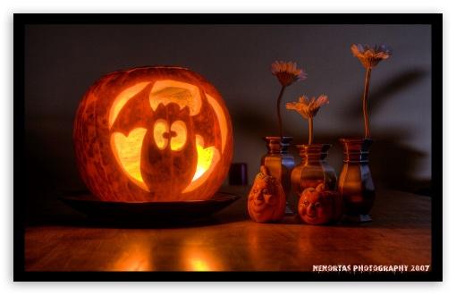 Download Funny Halloween Pumpkin UltraHD Wallpaper