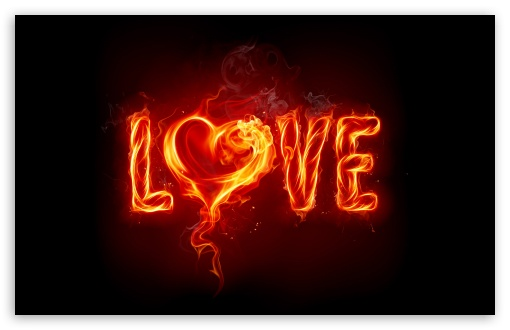 Download Fire Love UltraHD Wallpaper