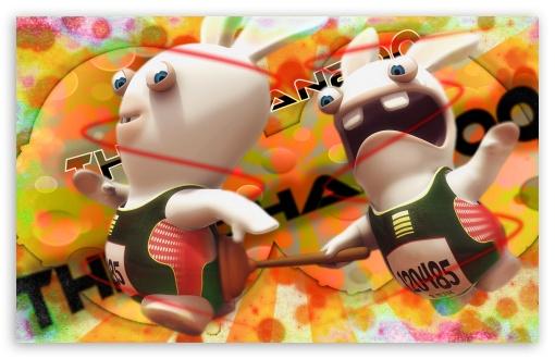 Download Rayman Raving Rabbids In Rainbow Light With... UltraHD Wallpaper