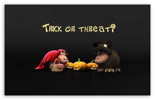 Download Halloween Sheeps Trick Or Threat Screen UltraHD Wallpaper