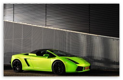 Download Lamborghini Gallardo Spyder Green UltraHD Wallpaper