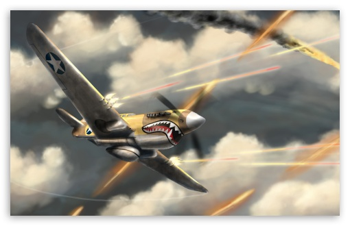 Download Airplanes Fight UltraHD Wallpaper