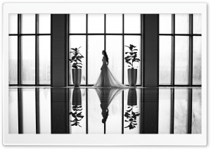 Bride, Pool, Reflection,...