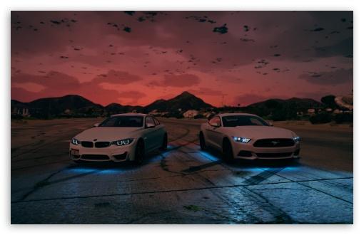 Download BMW - Ford Mustang UltraHD Wallpaper