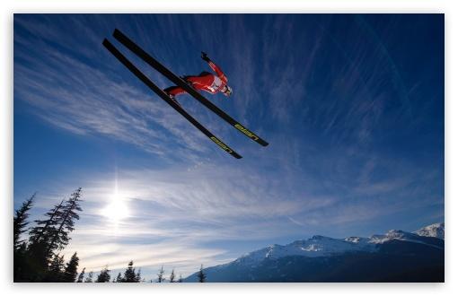 Download Skiing Jump UltraHD Wallpaper
