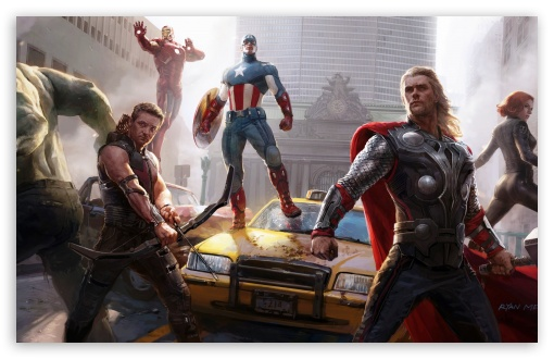 Download The Avengers Painting UltraHD Wallpaper