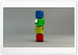 Stack of Coloured Cubes