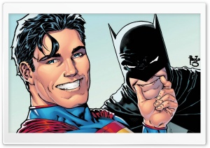 Superman and Batman Selfie