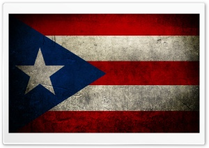 Grunge Flags Of Puerto Rico