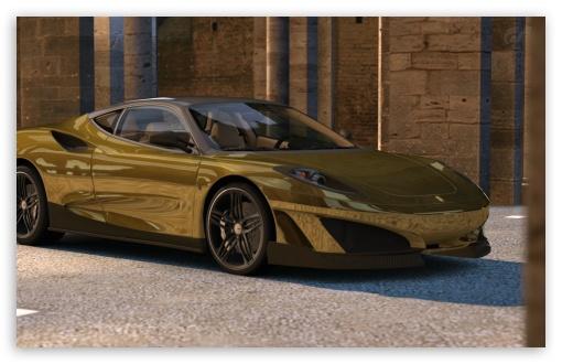 Download Ferrari SP1 - GOLD UltraHD Wallpaper