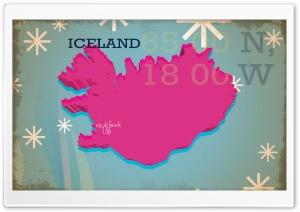 Iceland Vintage Map