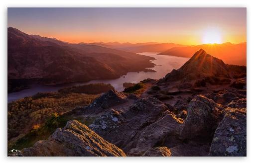 Download Beautiful Sunset, Scotland UltraHD Wallpaper