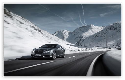 Download 2012 Bentley Continental V8 Winter UltraHD Wallpaper