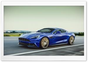 Blue Aston Martin Vanquish On...