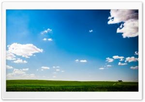 Green Field Nature Blue Sky