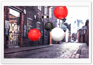 Realistic 3D Spheres On Street
