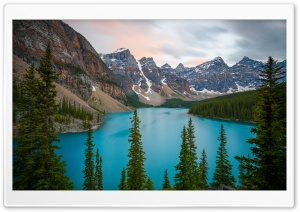 Moraine Lake, Mountains,...