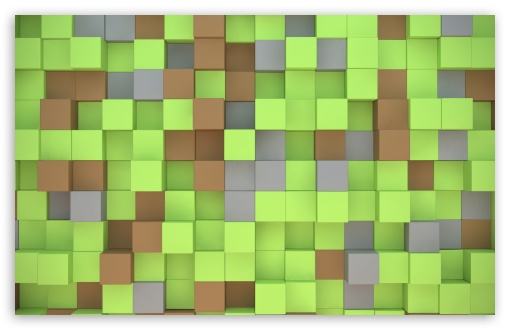 Download Minecraft Cubes UltraHD Wallpaper