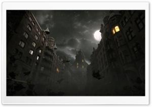 Dark City Autumn Scene