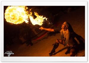 Woman Spitting Fire