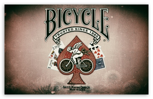 Download Bicycle Playing Cards UltraHD Wallpaper