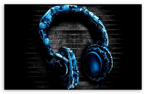 Download Abstract Headphones UltraHD Wallpaper