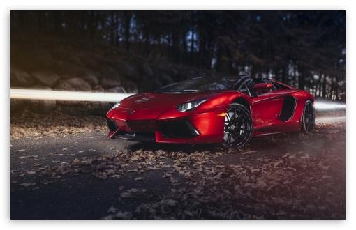 Download Lamborghini Aventador LP700 4 Roadster Red... UltraHD Wallpaper