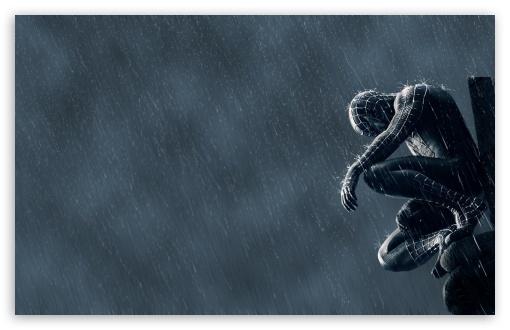 Download Spider Man In The Rain UltraHD Wallpaper