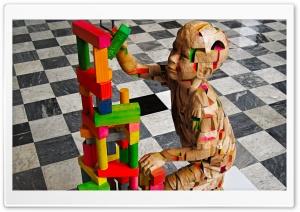 Wooden Sculpture of Science...