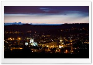 Panoramic View City at Night