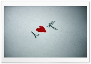 I Love You Written On Paper
