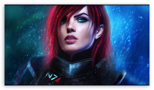 Download Commander Shepard - Mass Effect UltraHD Wallpaper