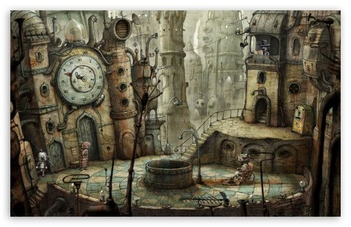 Download Plaza, Machinarium Game UltraHD Wallpaper
