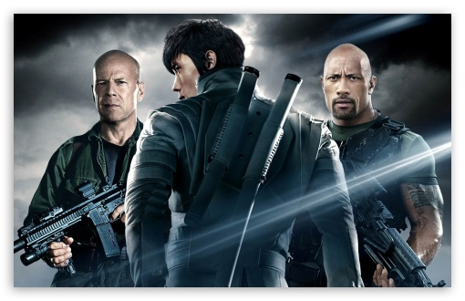 Download G.I. Joe Retaliation - Dwayne Johnson, Bruce... UltraHD Wallpaper