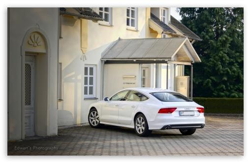 Download White Audi A7 UltraHD Wallpaper