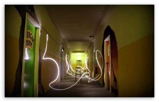 Download Light Painting At The Dorm UltraHD Wallpaper