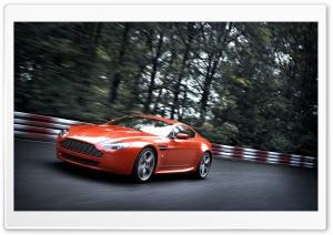 Orange Aston Martin Vantage V8