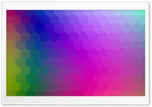 Colorful Hexagons Background...