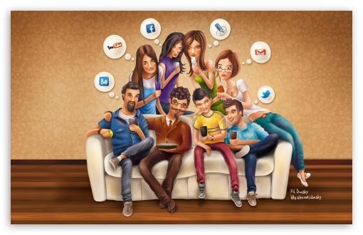 Download Social Media UltraHD Wallpaper