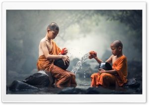 Children Buddhist Monks