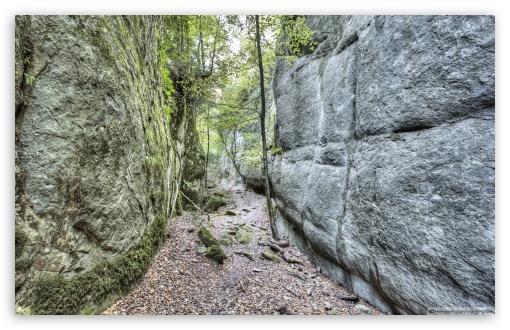 Download Walking Between Rock Walls Catalonia UltraHD Wallpaper