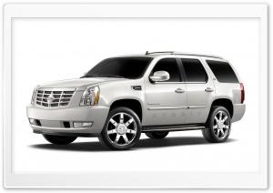 White Cadillac Escalade Hybrid