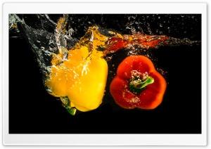 Pepper Vegetables Underwater